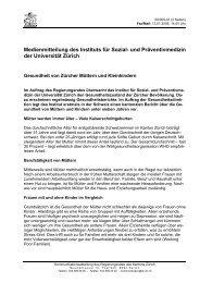 Medienmitteilung des Instituts für Sozial- und Präventivmedizin der ...