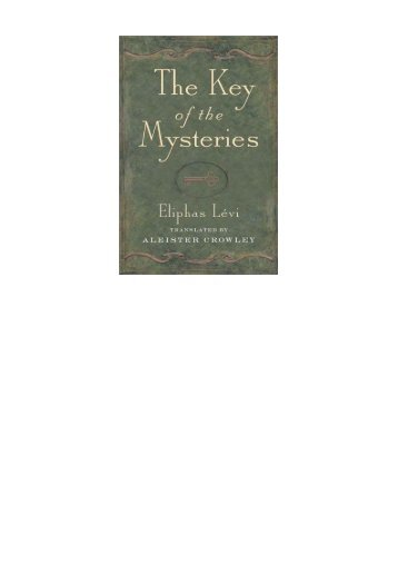 The Key to the Mysteries - Hermetics Resource