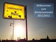zum Wintersemester 2011/2012 - Johannes Gutenberg-Universität ...