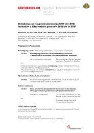 Programm und Traktandenliste - pdf - 68kb - Geothermie