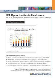 ICT Opportunities in Healthcare - Business Insights