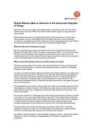 secret sales - Global Witness