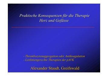 Praktische Konsequenzen für die Therapie Herz und Gefässe ...