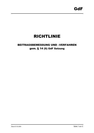 GdF RICHTLINIE