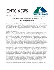GNTC Presidents and Deans List Spring 2012.indd - Georgia ...