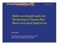 Multiwavelength multi-site monitoring of Gamma-Ray Burst ...