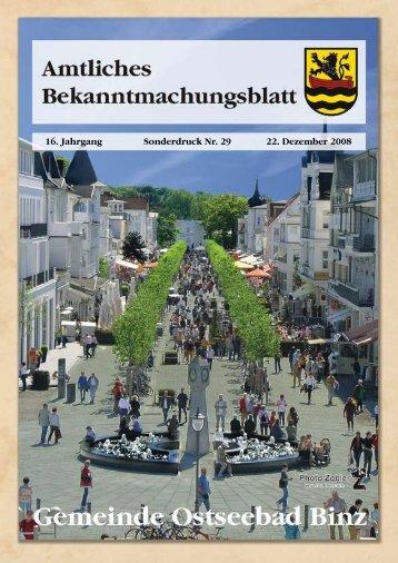 Sonderdruck Nr. 29 vom 22. Dezember 2008 - Gemeinde Binz