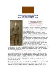 14820 Private Frederic Oliver Gray 3rd Field Ambulance 1st ...