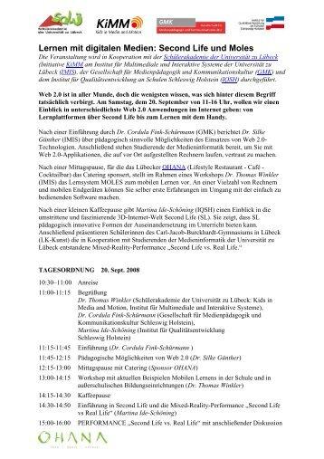 Lernen mit digitalen Medien: Second Life und Moles - GMK