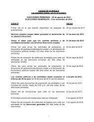 28 de agosto de 2012 ELECCIONES GENERALES ? 6 de no