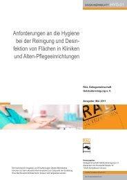 HYG.01 Anforderungen an die Hygiene bei der Reinigung und ...