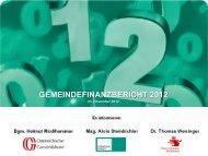 Gemeindefinanzbericht 2012 - Österreichischer Gemeindebund
