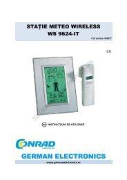 STAŢIE METEO WIRELESS WS 9624-IT - German Electronics