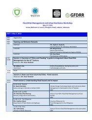 Flood Risk Management and Urban Resilience Workshop - GFDRR