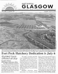 Fort Peck Hatchery Dedication is July - Glasgow Montana