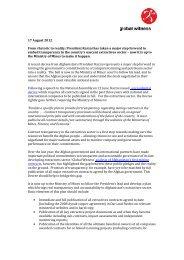 Global Witness Response to Karzai's Presidential Decree (PDF