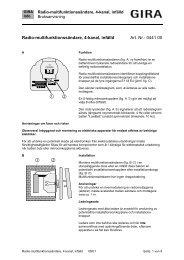 Radio-multifunktionssändare, 4-kanal, infälld - Gira