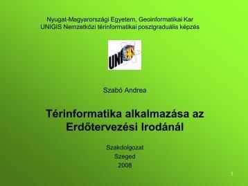 Térinformatika alkalmazása az Erdőtervezési Irodánál