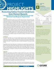 Protecting Indian Coastal Inhabitants from Natural Hazards - GFDRR