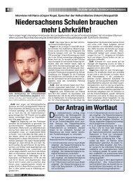 Niedersachsens Schulen brauchen mehr Lehrkräfte! - GEW ...