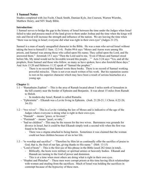 1 Samuel Notes pdf