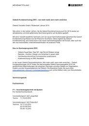 MEDIENMITTEILUNG Geberit Kundenschulung 2010 – wer mehr ...