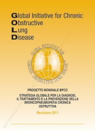 GOLD 2011 - the Global initiative for chronic Obstructive Lung Disease