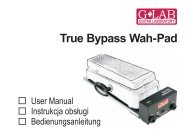 True Bypass Wah-Pad - G LAB