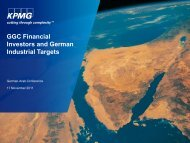 GGC Financial Investors and German Industrial Targets - Ghorfa