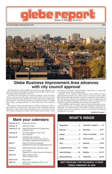 February, 2008 - Glebe Report