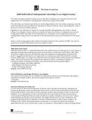 2008 Multicultural Undergraduate Internship Publicity ... - The Getty