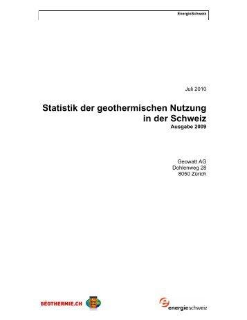Statistik der geothermischen Nutzung in der Schweiz - Was ist ...