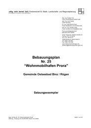 "Bebauungsplan Nr. 25 ""Wohnmobilhafen Prora"