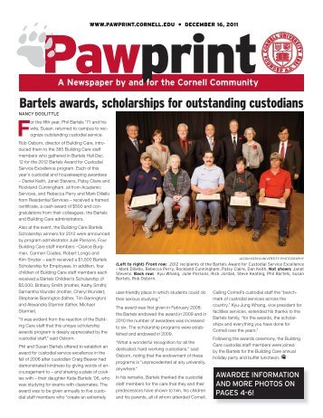 Bartels awards, scholarships for outstanding custodians