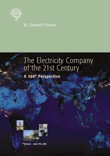 E7 Forum Venise_V5.1C - Global Sustainable Electricity Partnership