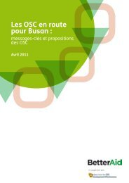 Les OSC en route pour Busan : - Open Forum for CSO Development ...