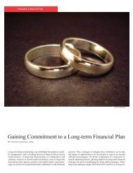 Gaining Commitment to a Long-term Financial Plan - Government ...