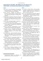 Dissertationen SS 2008 – WS 2009/10 aus dem Bereich der ...