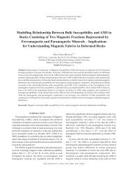 Modelling Relationship Between Bulk Susceptibility and AMS in ...