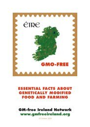 essential facts about genetically modified food ... - GM Free Ireland