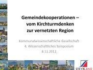 Gemeindekooperationen – vom Kirchturmdenken zur vernetzten ...
