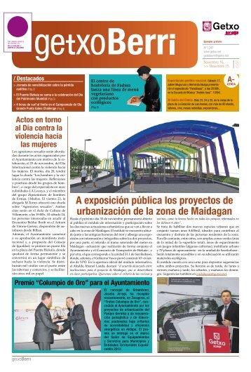 A exposición pública los proyectos de urbanización de la ... - Getxo