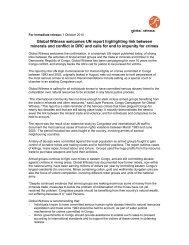 Global Witness welcomes UN report highlighting link between ...
