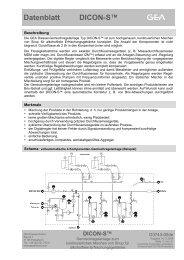 Datenblatt DICON-S™ - GEA Diessel GmbH