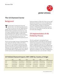 The US Diamond Sector - Global Witness