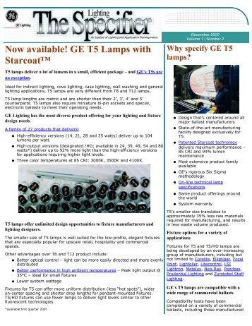 Lighting Specifier-Dec. 2000 - GE Lighting Asia Pacific