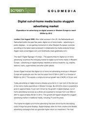 Digital out-of-home media bucks sluggish advertising ... - Goldmedia