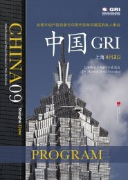 2009 - Global Real Estate Institute