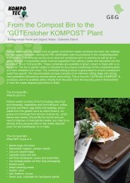 From the Compost Bin to the 'GÜTErsloher KOMPOST' Plant - GEG