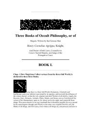 Three Books of Occult Philosophy, or of - Hermetic Order of the ...